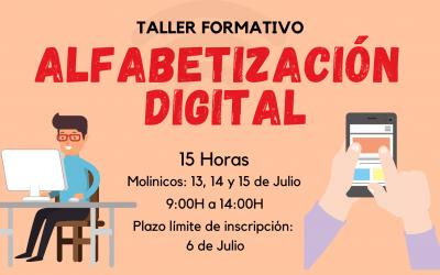 """TALLER FORMATIVO """"ALFABETIZACIÓN DIGITAL"""" EN MOLINICOS"""