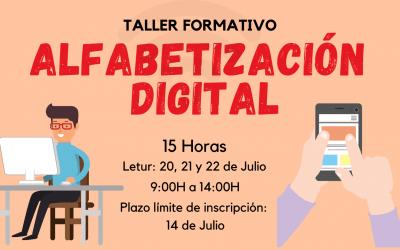 """TALLER FORMATIVO """"ALFABETIZACIÓN DIGITAL"""" EN LETUR"""