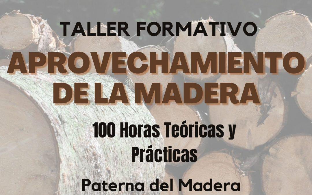 TALLER FORMATIVO APROVECHAMIENTO DE LA MADERA