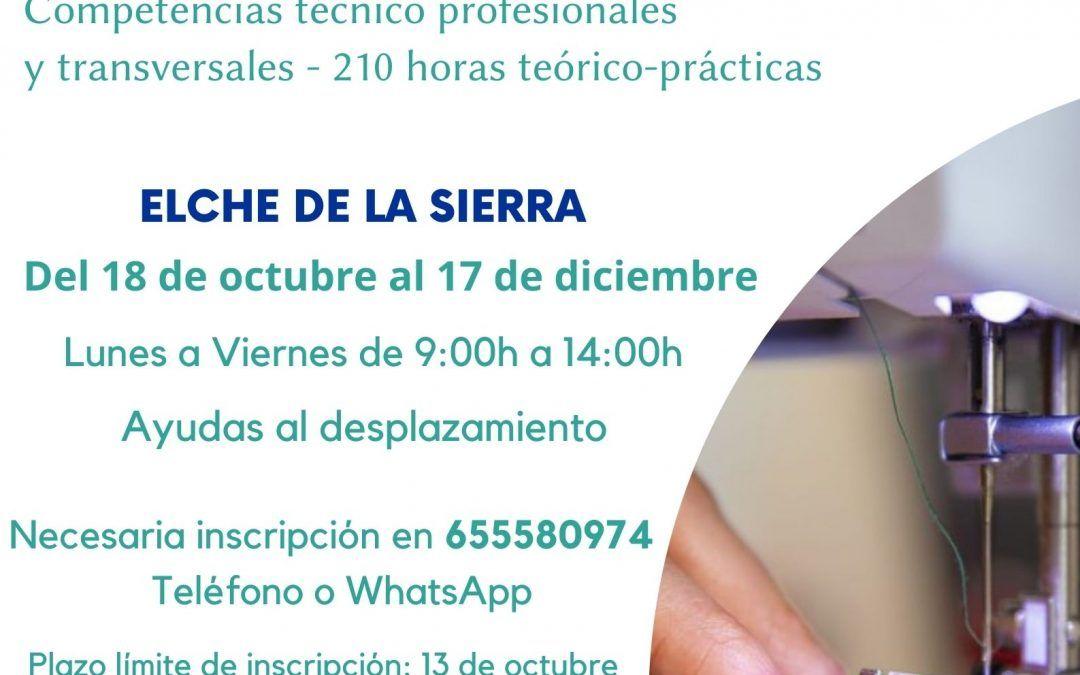 TALLER FORMATIVO «COSTURÍZATE: SEGUNDA EDICIÓN» EN ELCHE DE LA SIERRA